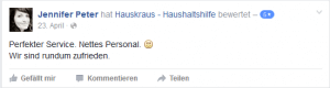 Hauskraus Facebook1 Rezension