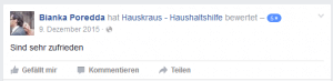 Hauskraus Facebook3 Rezension